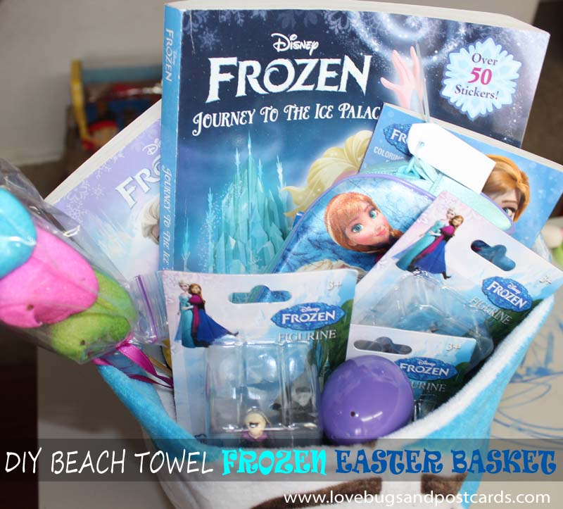 DIY Beach Towel Frozen Easter Basket