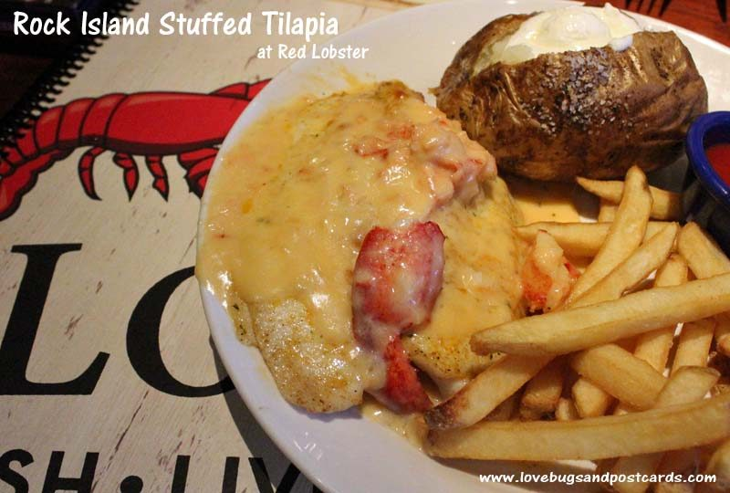Red Lobster Stuffed Tilapia #Lobsterworthy