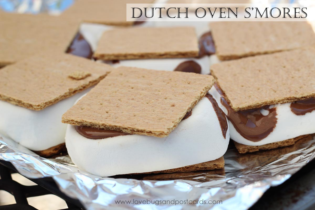 Dutch Oven S'mores - Lovebugs and Postcards