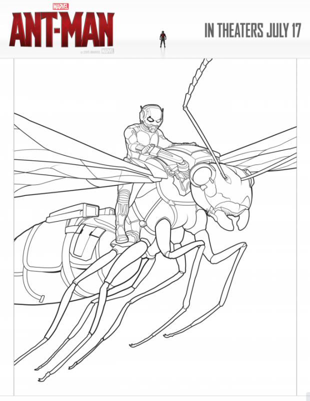 AntMan Coloring Pages