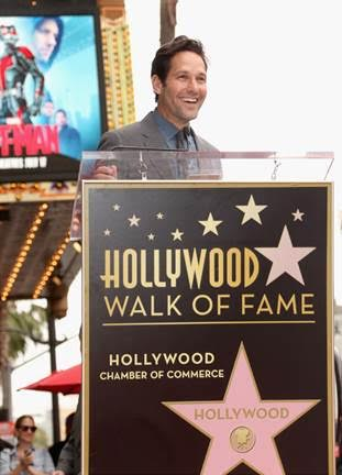 Paul Rudd honored with a star on the Hollywood Walk of Fame #AntMan