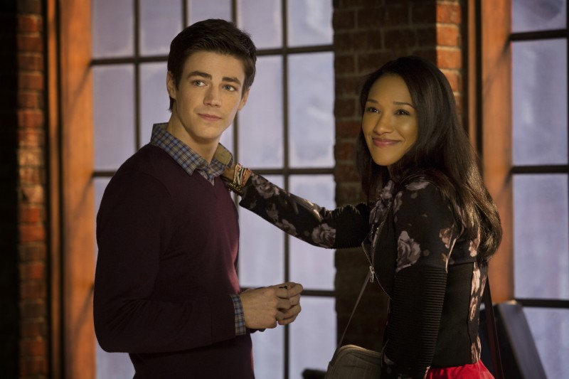 "The Flash -- ""Pilot"" -- Image FLA101b_0360 -- Pictured (L-R): Grant Gustin as Barry Allen and Candice Patton as Iris West -- Photo: Jack Rowand/The CW -- © 2014 The CW Network, LLC. All rights reserved"