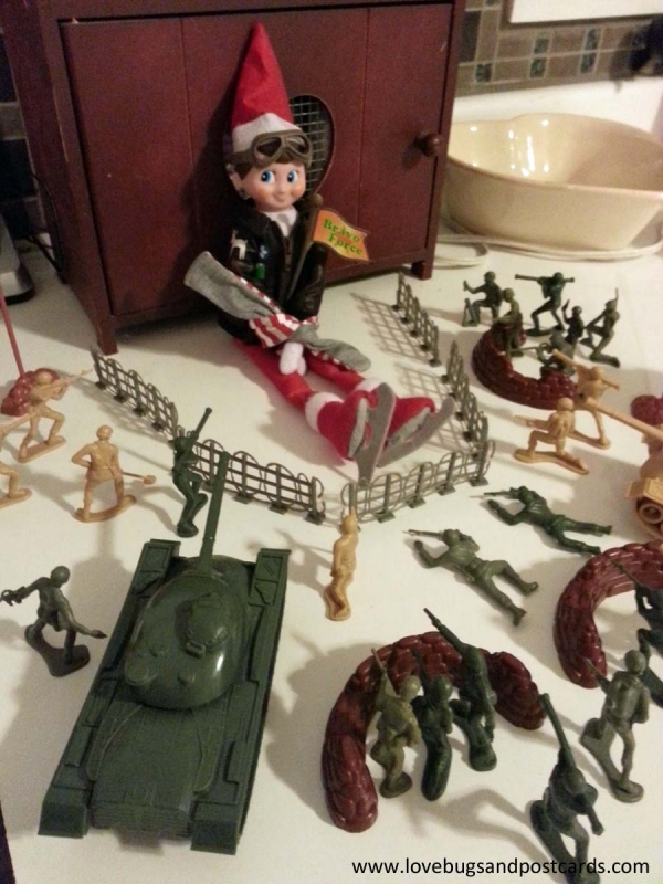 Elf on the Shelf Ideas - Army Hostage