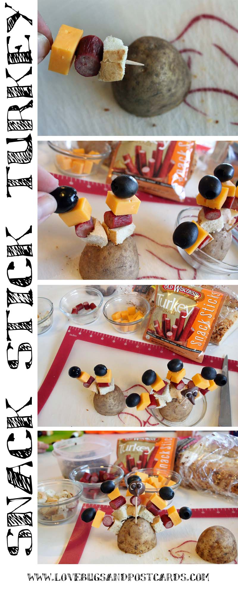 Snack Stick Turkeys
