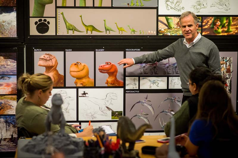 THE GOOD DINOSAUR - Production Designer Harley Jessup presents at the Long Lead Press Days at Pixar Studios. Photo by: Marc Flores. ©2015 Disney•Pixar. All Rights Reserved.