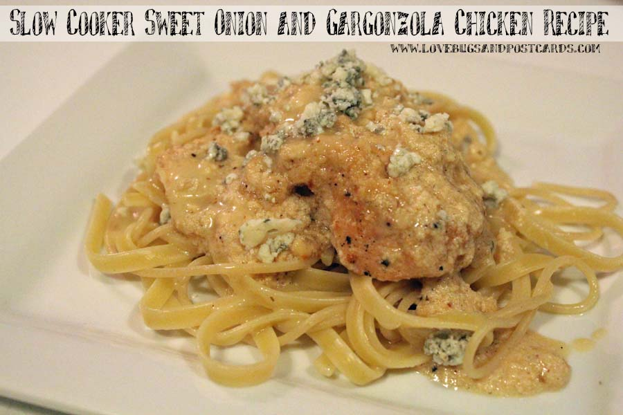 Slow Cooker Sweet Onion and Gargonzola Chicken Recipe