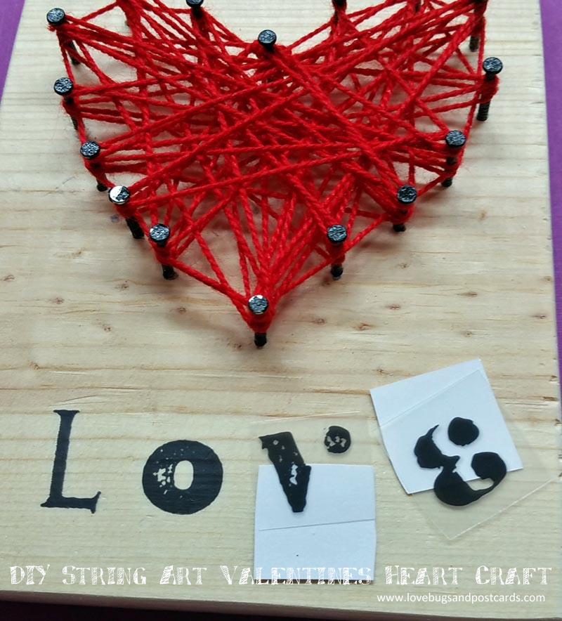 DIY String Art Valentine's Heart Craft