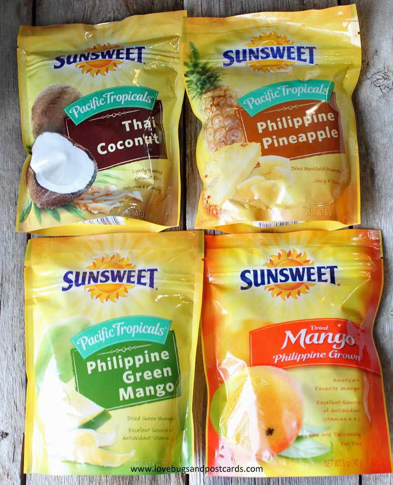 Sunsweet Philippine Tropicals flavors + Tropical Vacation Giveaway