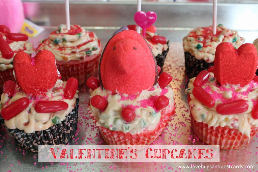 PEEPS Valentine's Cupcakes