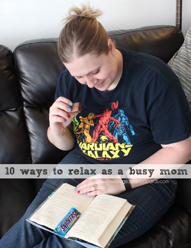 10 ways to relax as a busy mom