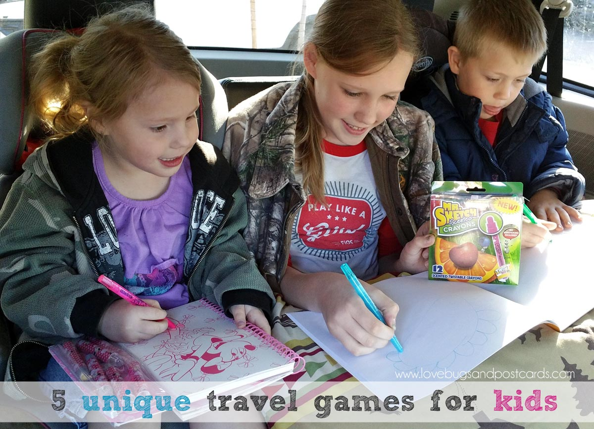 5 unique travel games for kids