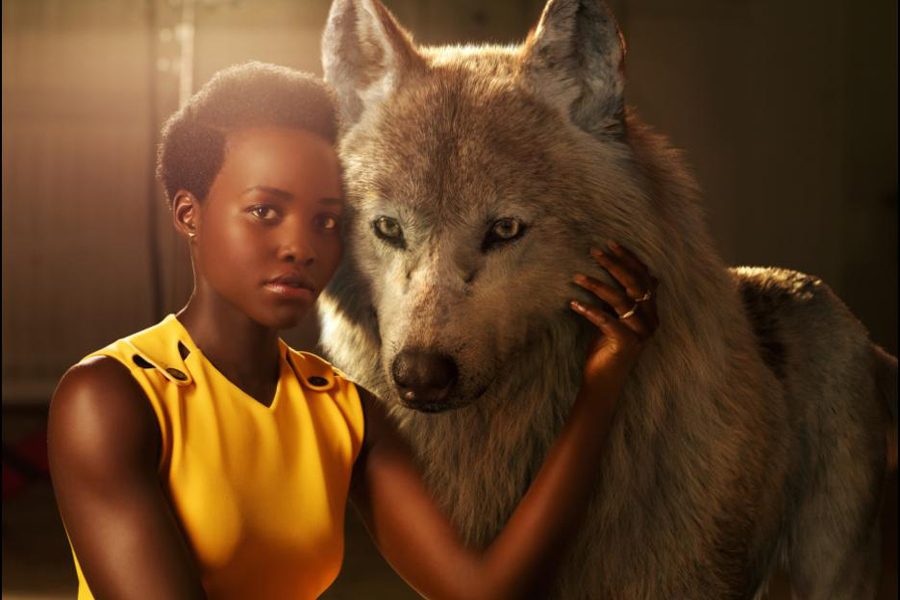 Lupita Nyong'o as Raksha in Disney's The Jungle Book