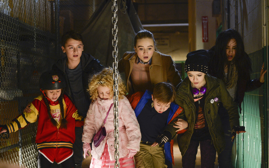 "ADVENTURES IN BABYSITTING - ""Adventures in Babysitting,"" inspired by the hugely popular 1980s film of the same name, is an upcoming Disney Channel Original Movie starring Sabrina Carpenter (of Disney Channel's hit comedy series ""Girl Meets World"") and Sofia Carson (of the hit Disney Channel Original Movie ""Descendants""). In ""Adventures in Babysitting,"" a dull evening for two competing babysitters, Jenny (Sabrina Carpenter) and Lola (Sofia Carson), turns into an adventure in the big city as they hunt for one of the kids who somehow snuck away. The Disney Channel Original Movie will premiere summer 2016. (Disney Channel/Ed Araquel) MADISON HORCHER, MAX GECOWETS, MALLORY JAMES MAHONEY, JET JURGENSMEYER, SABRINA CARPENTER, NIKKI HAHN, SOFIA CARSON"