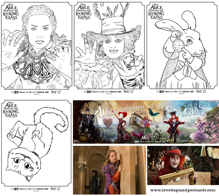 Disney's Alice Through The Looking Glass Review + Printable Alice Coloring Pages