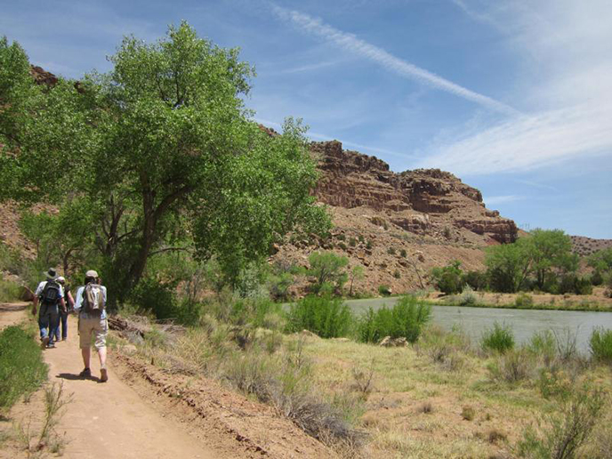 Discover Old Spanish Trail corridors: This section of the Rio Chama River, tributary of the Rio Grande, is located about six miles north of Abiquiú, New Mexico and flows through the Carson National Forest. Photo Credit NPS