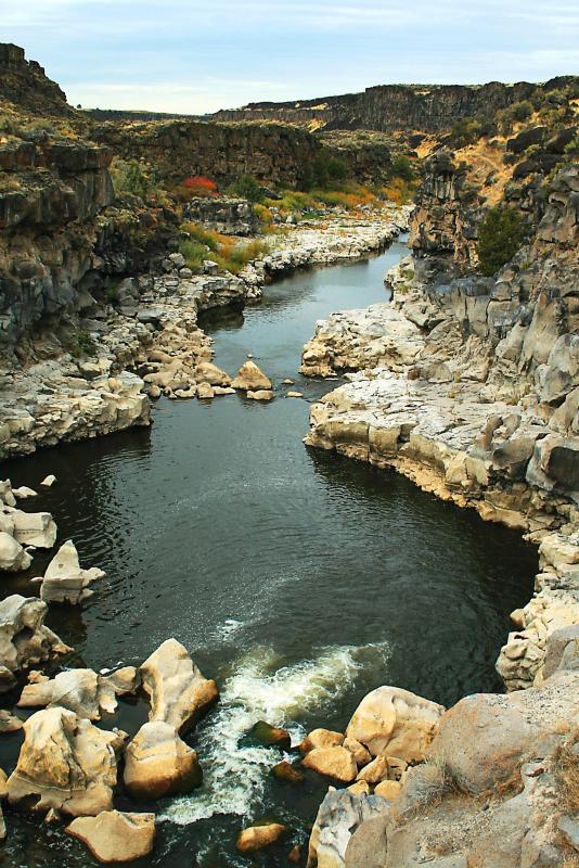 Credit: NPS View of the deep gorge along the Snake River at Cauldron Linn in south central Idaho.