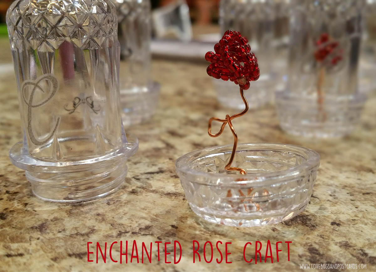 DIY Enchanted Rose in a Jar craft