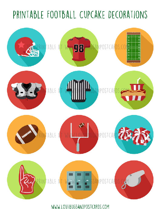 Football Cupcake Decorations