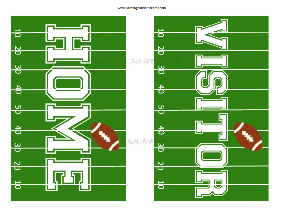 Home/Visitor Football Signs