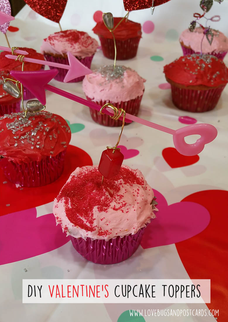 DIY Valentine's Cupcake Toppers