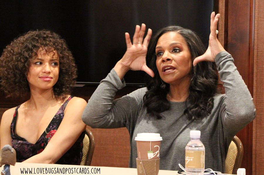 Exclusive interview with Audra McDonald and Gugu Mbatha-Raw about #BeautyAndTheBeast #BeOurGuestEvent