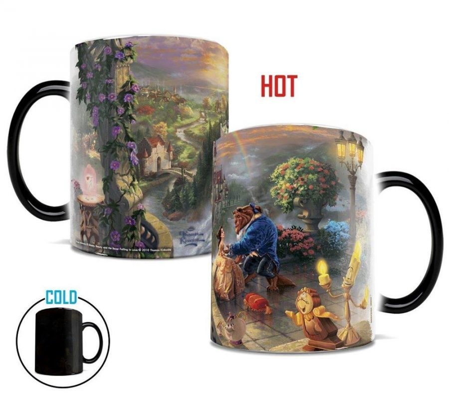 "Thomas Kinkade's ""Beauty and the Beast Falling In Love"" Morphing Mugs"