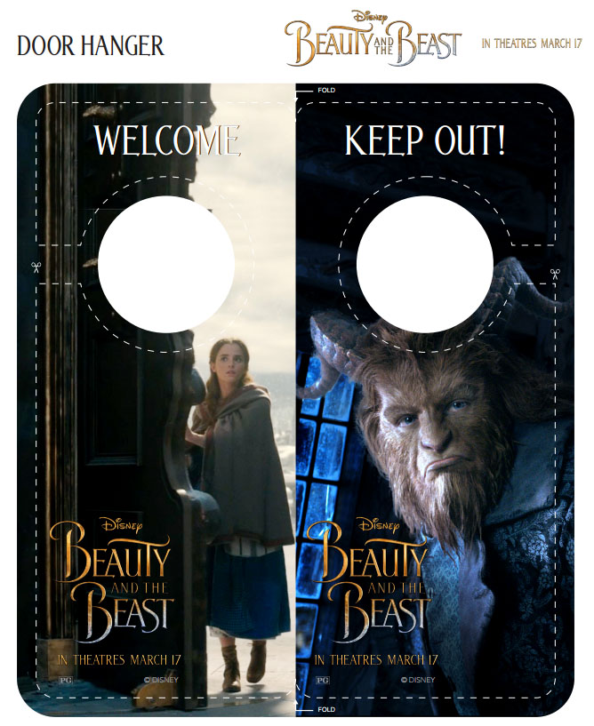 Beauty And The Beast Door Hanger