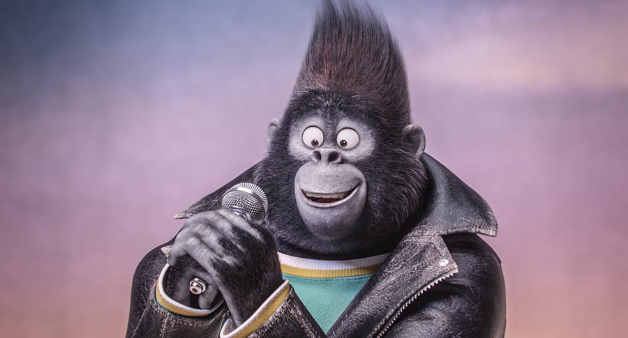 TARON EGERTON is Johnny, a young gangster gorilla looking to break free of his family's felonies, in the event film Sing, from Illumination Entertainment and Universal Pictures.
