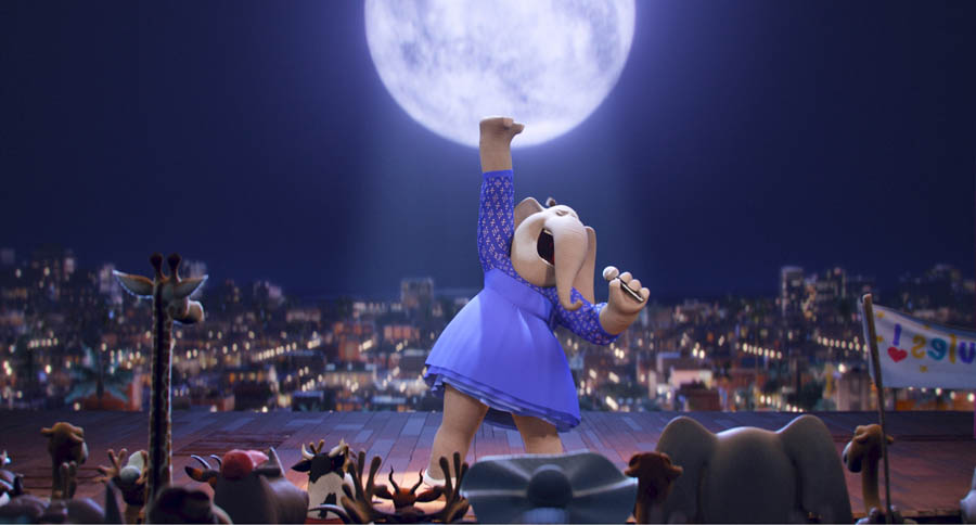 TORI KELLY as Meena, a timid teenage elephant with an enormous case of stage fright, in the event film Sing, from Illumination Entertainment and Universal Pictures.